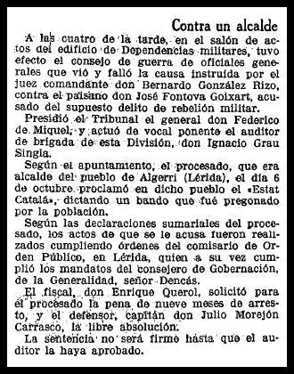 """La notícia a """"La Vanguardia"""""""